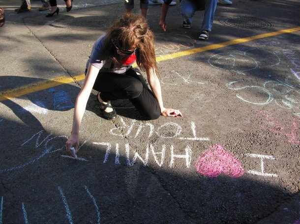 I Heart Hamilton - Chalk Art