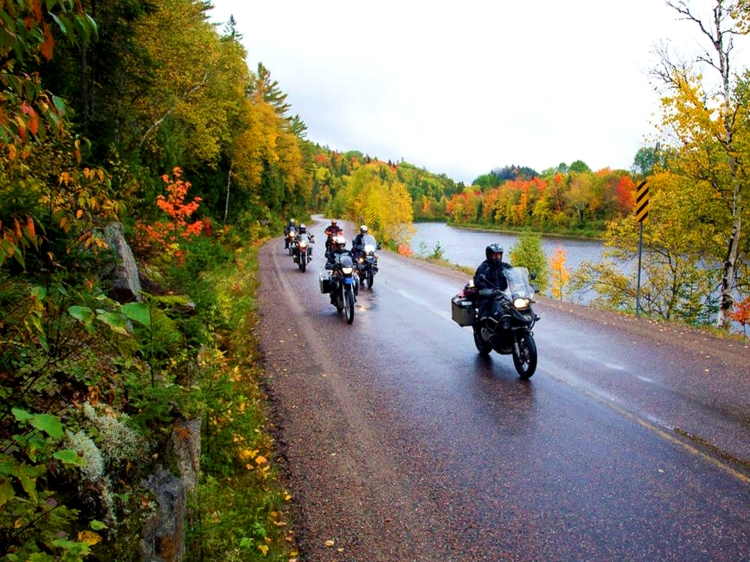 Group of motorcyclists in Algoma