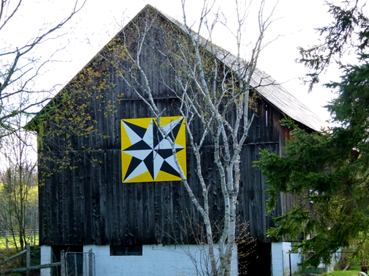 Barn quilt design named 'Northern Lights'