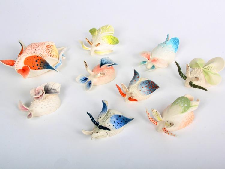 Image of delicate ceramics by artist Daumante Stirbyte.