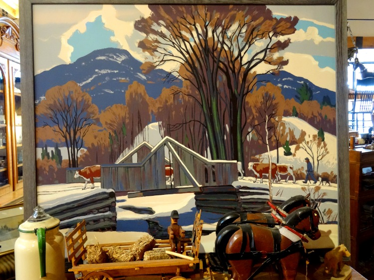 Antique painting and items at Danfield Antiques