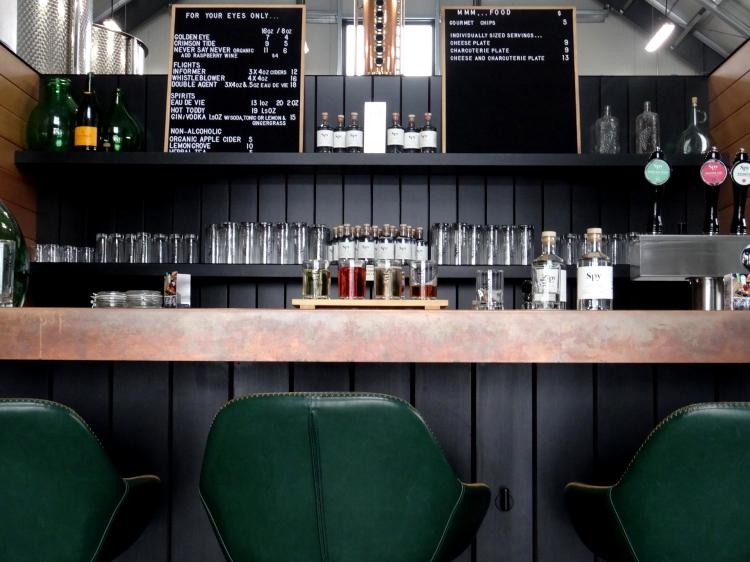 Tasting bar at Spy Cider House and Distillery
