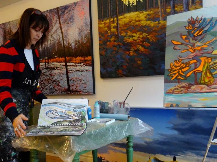 Local artist Suzette Terry describing her influence and process