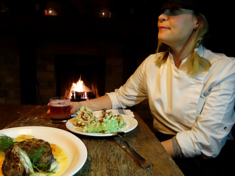 Chef Amber Plourde at The Grey